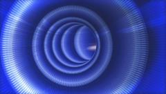 Futuristic technology fly-through infinity tunnel loop Stock Footage
