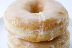 Sugary donut isolated Stock Photos