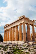 parthenon at acropolis in athens, greece - stock photo