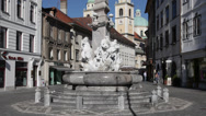 Stock Video Footage of Fountain in Ljubljana, Slovenia