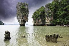Storm over James Bond Island, Thailand Stock Photos