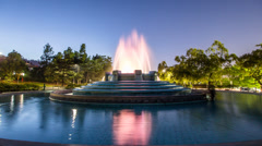William Mulholland Memorial Fountain 4K time lapse Stock Footage