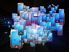 Stock Illustration of Cellular Phone Burs