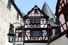 Half timbered architecture - stock photo