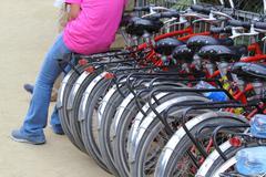 Bikes for rent Stock Photos