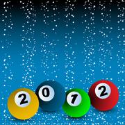 2012 Billiard ball arrangement Stock Illustration