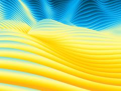 Undulating Wave Design Pattern Stock Illustration