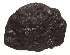 Coal lump carbon nugget isolated on white Stock Photos