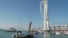 Boating in Portsmouth Stock Footage