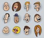 Cartoon faces Stock Illustration