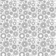 Seamless gear pattern Stock Illustration