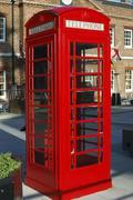 English Red Telephone Box - stock photo