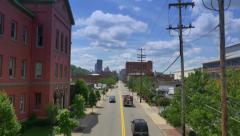 Establishing Shot of Pittsburgh Smallman Street Stock Footage