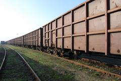 Railway freight wagons Stock Photos