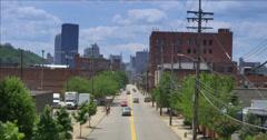 4K Pittsburgh City Establishing Shot Stock Footage