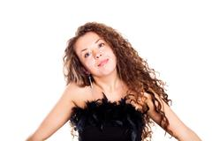 brunet lady with a beautiful hair - stock photo