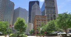 4K Downtown Pittsburgh Skyline Establishing Shot Stock Footage
