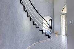 modern foyer. view of staircase - stock photo