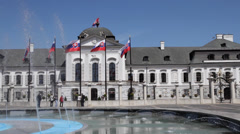 Grassalkovich Palace in Bratislava, Slovakia Stock Footage