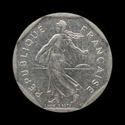 Stock Photo of Vintage French coin