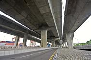 Stock Photo of Under the bridge. Urban scene