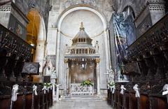 Church interior at Trogir in Croatia - stock photo