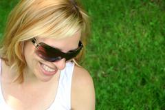 Sunglass woman Stock Photos