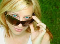 Sunglass woman Stock Photos