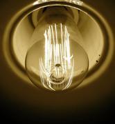 Nostalgic light bulb - stock photo