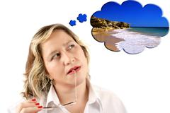 Stock Photo of beach dreaming