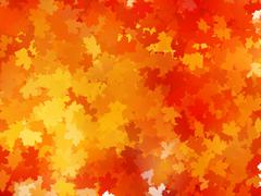 Autumnal leaf of maple and sunlight. EPS 10 - stock illustration