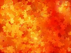 Stock Illustration of Autumnal leaf of maple and sunlight. EPS 10