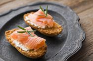 Salmon snack Stock Photos