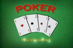 Poker tournament - stock photo