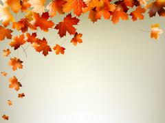 Colorful autumn leaves falling. EPS 10 Piirros