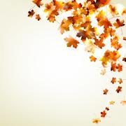 Autumn falling leaves. EPS 10 Stock Illustration