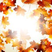 Background with maple autumn leaves. EPS 10 Stock Illustration