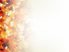 Falling autumn leaves on light. EPS 10 Stock Illustration