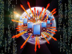 Stock Illustration of Cellular Digital Communications