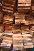 Stock Photo of Stack of lumber