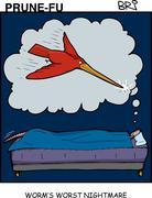 Worm Nightmare - stock illustration