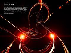 Three Dimensional Swirl Abstract Stock Illustration