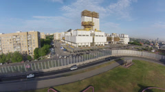 "Air view on ""Golden brains"" - building of Russian Academy of Sciences - stock footage"