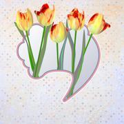 Abstract Elegance Vintage polka dot card. EPS 10 - stock illustration