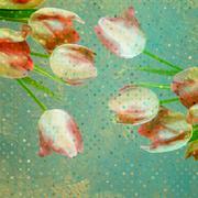 Vintage tulip wallpaper pattern. EPS 10 Stock Illustration