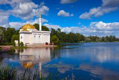 Turkish bath in Catherine Park at Tsarskoye Selo - stock photo