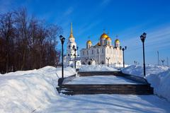 Assumption cathedral  at Vladimir Stock Photos