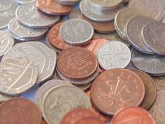 Stock Photo of British pound coin