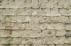 Clay wall background Stock Photos
