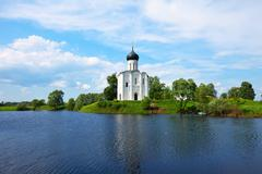 Church of the Intercession on the River Nerl - stock photo